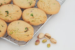 Pistachio Shortbread Biscuits Royalty Free Stock Image