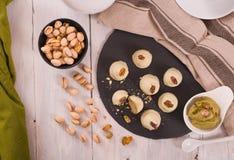 Pistachio truffles. royalty free stock photography
