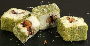 Pistachio turkish delights Stock Photo