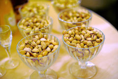 Pistachio in Vases Royalty Free Stock Images
