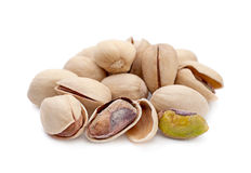 Pistachio on white Royalty Free Stock Images