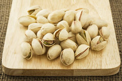 Pistachio on wooden Royalty Free Stock Photo