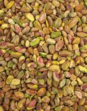 Pistachios. The pistachio (Pistacia vera L., Anacardiaceae; sometimes placed in Pistaciaceae) is a small tree up to 10 m tall. It has deciduous pinnate leaves 10 Stock Images