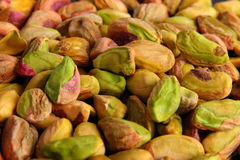Pistachios. Pile of pistachios, also suitable as background royalty free stock photography