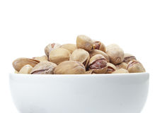 Pistachios. Salted Pistachios on White Background Royalty Free Stock Image