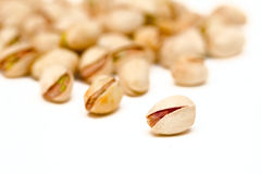 Pistachios. Close up on white background Stock Photography