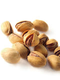 Pistachios. Isolated heap of pistachios on white background Royalty Free Stock Photos