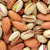Pistachios & almonds Stock Photos