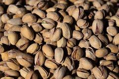 Pistachios background. Salted pistachios