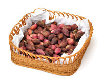 Pistachios is a basket Royalty Free Stock Photo