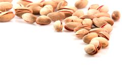 Pistachios border Stock Photos