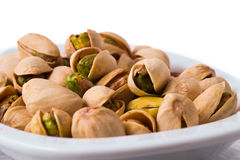 Pistachios in a bowl Stock Image