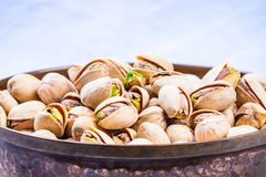 Pistachios in bowl. royalty free stock photo