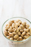 Pistachios in bowl Royalty Free Stock Images