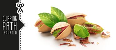 Pistachios with clipping path 7 Royalty Free Stock Images