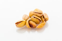 Pistachios close up. A macro of some pistachios with great details stock photo