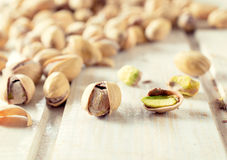 Pistachios close up Stock Photos