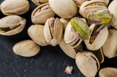Pistachios. Close up of pistachios in shells Royalty Free Stock Photography