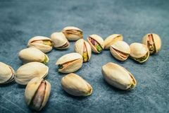 Pistachios on Counter stock photography