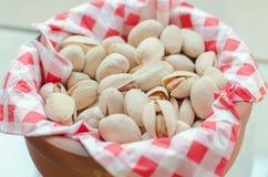 Pistachios. Dry delicious healthy pistachios closeup Stock Photos