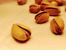 Pistachios everywhere. Background royalty free stock image