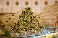 Pistachios with fruit paste.  For winter & best occasions. Pistachios with fruit paste Royalty Free Stock Photos