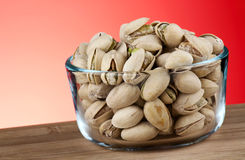 Pistachios In Bowl Stock Photography