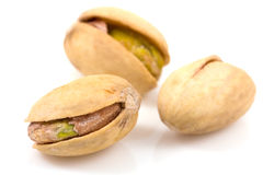 Pistachios on isolated Royalty Free Stock Photo