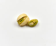 Pistachios Isolated Stock Photography