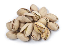 Pistachios isolated on white Stock Images