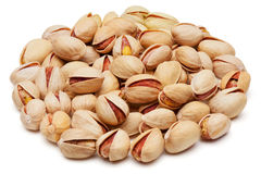 Pistachios isolated on white. Stock Photo