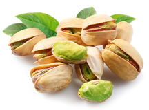 Pistachios with leaves on. Stock Images