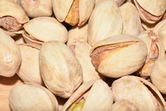 Pistachios. Macro photo of salted pistachios Royalty Free Stock Image