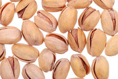 Pistachios nuts isolated on white Royalty Free Stock Photos