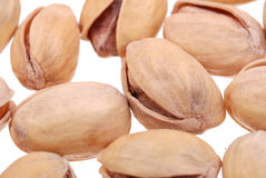 Pistachios nuts isolated on white Royalty Free Stock Images