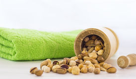 Pistachios and nuts Royalty Free Stock Images
