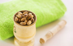 Pistachios and nuts Stock Photo