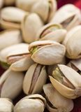 Pistachios. Photograph of a group of pistachio nuts stock image