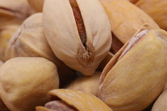 Pistachios. Several pistachios depicted close-up Stock Photography