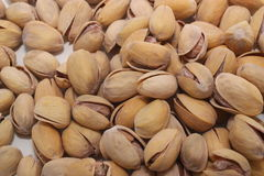 Pistachios. Several pistachios depicted close-up Royalty Free Stock Image