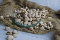 Pistachios in shells Stock Photo