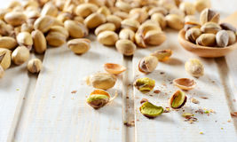 Pistachios on the table Royalty Free Stock Image