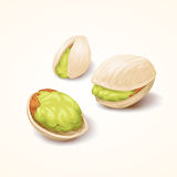 Pistachios. Vector, EPS10, This illustration contains transparency Royalty Free Stock Photo