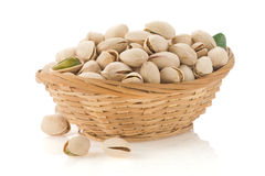 Pistachios on white Stock Photos