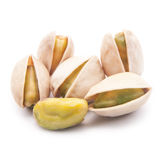 Pistachios on white background Royalty Free Stock Images