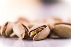 Pistachios. On white background stock photo