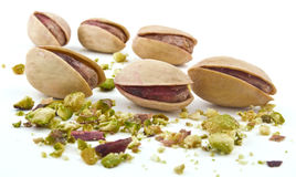 Pistachios on white background Stock Photography