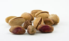 Pistachios on white background Stock Image