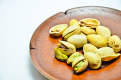 Pistachios with white background Royalty Free Stock Images