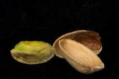 Pistacho con el shell Fotografía de archivo